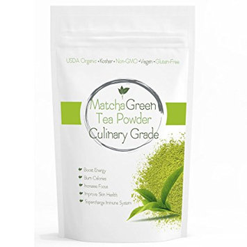 Wmbr Corp Culinary Matcha (16oz) Culinary Green Tea - USDA Organic - Perfect for Making Green Tea Latte or Frappe