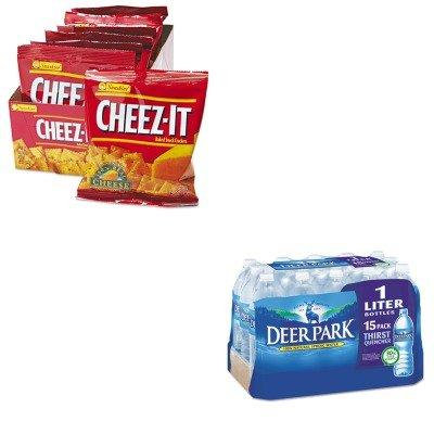 KITKEB12233NLE828474 - Value Kit - Deer Park Natural Spring Water (NLE828474) and Kelloggs Cheez-It Crackers (KEB12233)