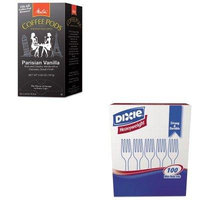 KITDXEFH207MLA75411 - Value Kit - Melitta Coffee Pods (MLA75411) and Dixie Plastic Cutlery (DXEFH207)