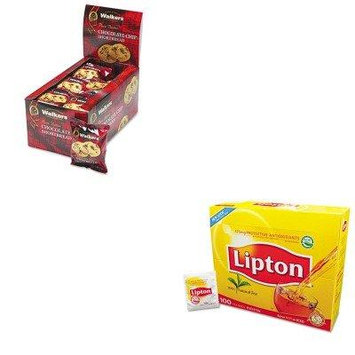 KITLIP291OFXW536 - Value Kit - Walkers Shortbread Cookies (OFXW536) and Lipton Tea Bags (LIP291)