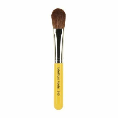 Bdellium Tools Travel Line Face Blending Brush, Yellow by Bdellium Tools