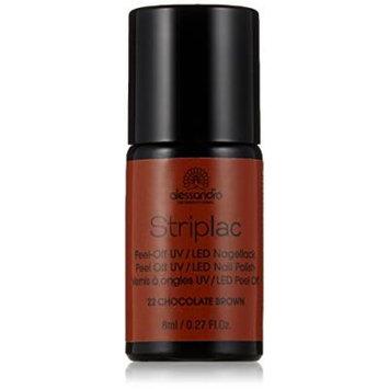 Striplac Peel-Off UV/LED Nail Polish (8mL) - 22 Chocolate Brown by alessandro