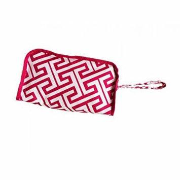 Toiletry Travel Bag Greek Key Pink White, CASE OF 12