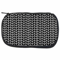 Knit Stitch Doodle B Makeup Bag