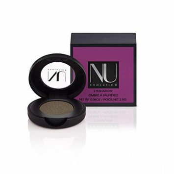 NU EVOLUTION Pressed Eye Shadow, Couture, Green Khaki, Natural