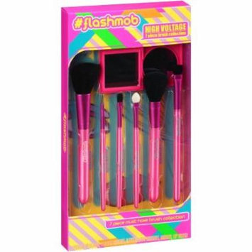 • #Flashmob Brush Collection 7 piece Gift Set: Includes: 2 Blush Brushes, 2 Eye Shadow Brushes, Mirror, Lip Brush, and Sponge Applicator