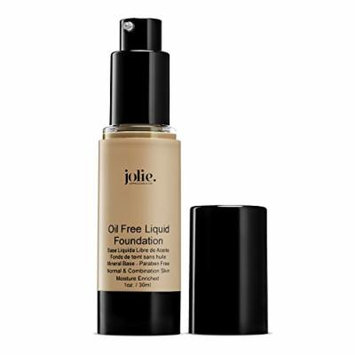 Jolie Oil Free Liquid Foundation - Matte Finish (Warm Beige)