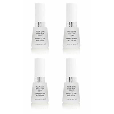 Revlon Nail Polish Multi Care Base+top Coat 0.5 Oz (4 Pack) + FREE FREE Schick Slim Twin ST for Sensitive Skin