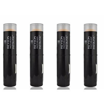 Revlon Photoready Insta-Fix Foundation Stick, SPF 20 Natural Ochre (4 Pack) + FREE Makeup Blender