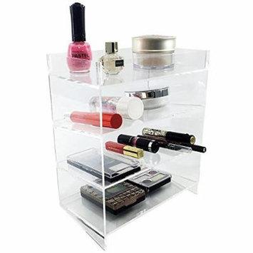Ikee Design Acrylic 4-Shelf Makeup Organizer Cosmetic Palette Display