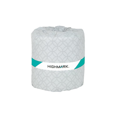 Highmark(R) 100% Recycled 2-Ply Bath Tissue, White, 336 Sheets Per Roll, Case Of 48 Rolls