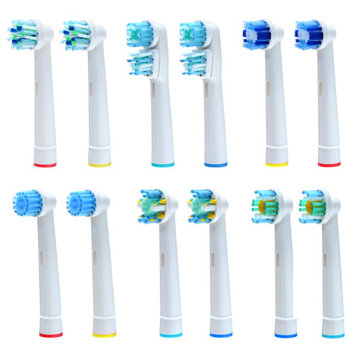 8PCS Oral B Electric Toothbrush Replacement Heads Sensitive Deep Clean Soft Brush w/ Indicator Bristle