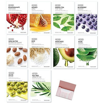 [The Face Shop] Facial Mask Sheets, Real Nature Full Face Masks Peel Off Disposable Sheet (Pack of 10) : Beauty