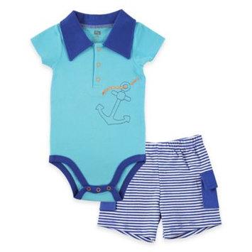 Hudson Baby Newborn Baby Boys Short Sleeved Bodysuit and Cargo Shorts