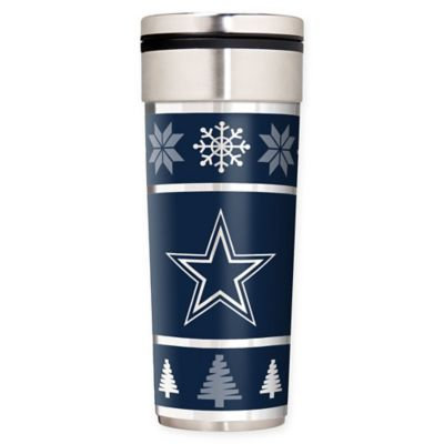 Dallas Cowboys Ugly Sweater Travel Tumbler (Cow Team)