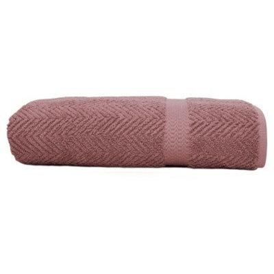 Herringbone Bath Towels Sugar Plum - Linum Home Textiles®
