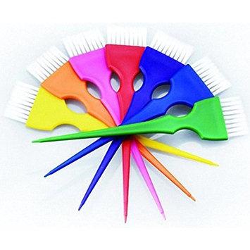 Perfehair Colorful Hair Dye Brush Set, Rainbow Hair Coloring Tint Brush Set-7 Color (7 Brushes) by Perfehair