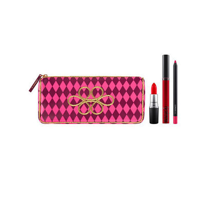M.A.C Nutcracker Sweet Red Lip Bag-RED-One Size
