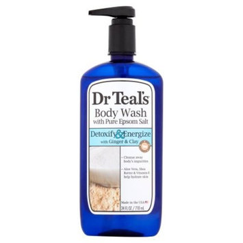 Dr Teal's Ultra Moisturizing Detoxify & Energize with Ginger & Clay Body Wash, 24 fl oz, pack of 1