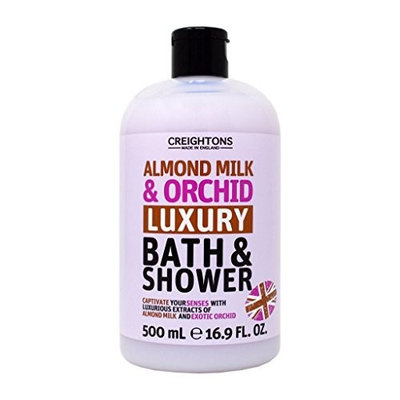 Creightons Almond Milk & Orchid Luxury Bath & Shower Gel Wash, 16.9 Oz.