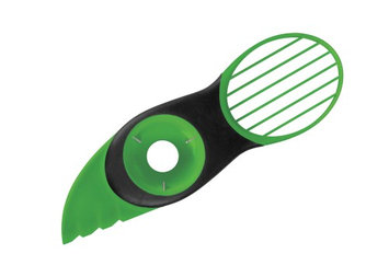 ETCBUYS 3-in-1 Non-slip Grip Plastic Blades Silicone Avocado Slicer