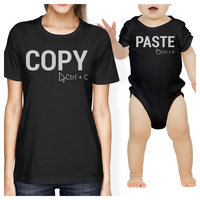 Copy And Paste Mom and Baby Matching Gift T-Shirts For Mothers Day