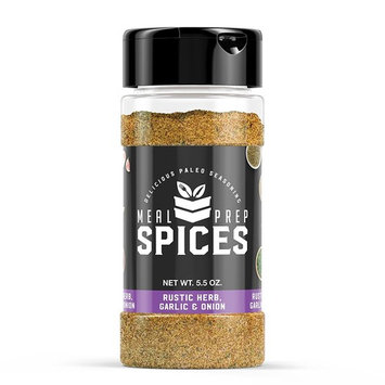 Meal Prep Spices Rustic Herb, Garlic & Onion Seasoning - Paleo, Kosher, and Gluten Free - One (1) 5.5oz Bottle
