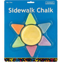 Kole Imports KL18850 Sunshine Shaped Sidewalk Chalk