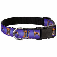 Country Brook Design® Deluxe Boxer Ribbon Dog Collar