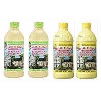 Nellie & Joes Famous Key West Lemon & Lime Juice 16oz (2 of each bottle - Pack of 4)