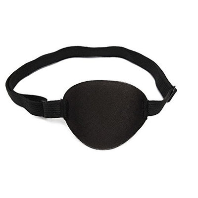 MD Group Eye Patch Groove Eyeshades Concave Adult Eye Care Washable Polyester-fabric Black