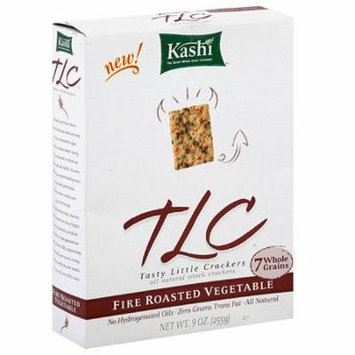 Kashi TLC Fire Roasted Veggie Snack Crackers, 9 oz (Pack of 12)