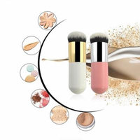 Round Makeup Brush Flat BB Cream Concealer Foundation Powder Brushes Professional Face Cosmetic Blush Brush Make Up-pink