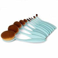Oval Brush Kits 10Pcs Makeup Brushes for Women Face Eye Lip Foundation Powder Blusher Cosmetic Beauty Tools