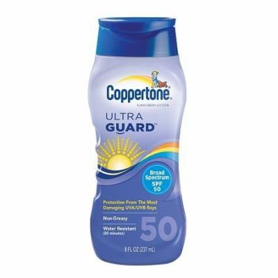 Coppertone Ultra Guard Sunscreen Lotion, SPF 50 8.0 fl oz(pack of 12)