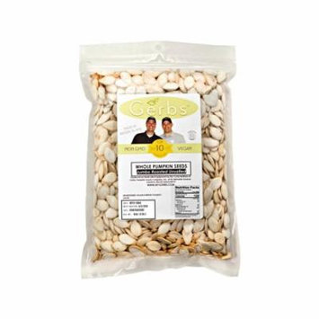 Jumbo Unsalted Pumpkin Seeds In Shell by Gerbs - 4 LBS - Top 12 Food Allergen Free & Non GMO - Vegan & Kosher - COG USA