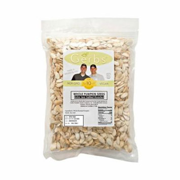 Extra Sea Salt Pumpkin Seeds In Shell by Gerbs - 2 LBS - Top 12 Food Allergen Free & NON GMO - Vegan & Kosher