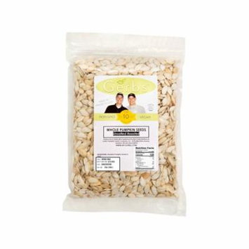 Roasted Unsalted Pumpkin Seeds In Shell by Gerbs - 2 LBS - Top 12 Food Allergen Free & NON GMO - Vegan & Kosher