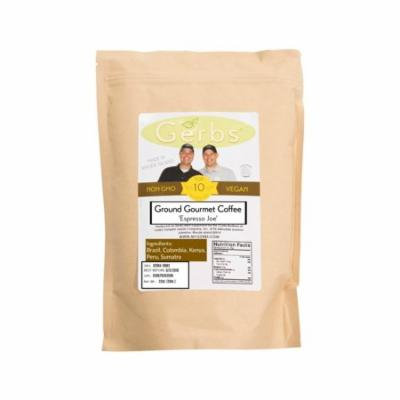 Espresso Joe - Gourmet Ground Coffee by Gerbs 2 LB (Re-Close-able Bag) - Brazil, Colombia, Kenya, Peru, Sumatra Bean Mix