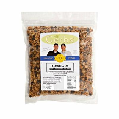 Dark Chocolate Chip Granola by Gerbs - 2 LBS - Top 12 Food Allergen Free & NON GMO - Made in Rhode Island
