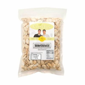 Jumbo Lightly Sea Salted Pumpkin Seeds In Shell by Gerbs - 2 LBS - Top 12 Food Allergen Free & Non GMO - COG USA