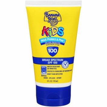 Banana Boat Kids Broad Spectrum Sunscreen Lotion, SPF 100 4.0 fl oz(pack of 6)