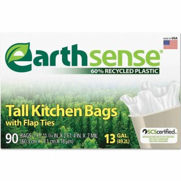 EarthSense - Recycled Can Liners - 13 gal - 90 ct.- quality Trash bags at wholesale price