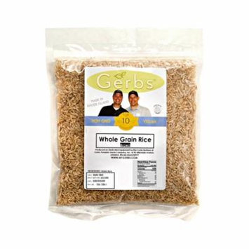 Brown Rice by Gerbs - 2 LBS - Top 12 Food Allergen Free & NON GMO - Premium Whole Grain, Product of USA