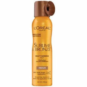 L'Oreal Paris Sublime Bronze ProPerfect Salon Airbrush Self-Tanning Mist Medium Natural Tan 4.6 oz.(pack of 6)