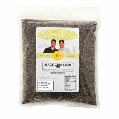 Raw Black Chia Seeds by Gerbs - 2 LBS - Top 12 Food Allergen Free, Non GMO, Vegan, Kosher - Product of Canada