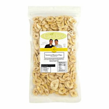 Banana Chips by Gerbs - 2 LBS - Sweetened - Preservative Free - Top 12 Allergen Friendly & NON GMO - C.O.G. Philippians