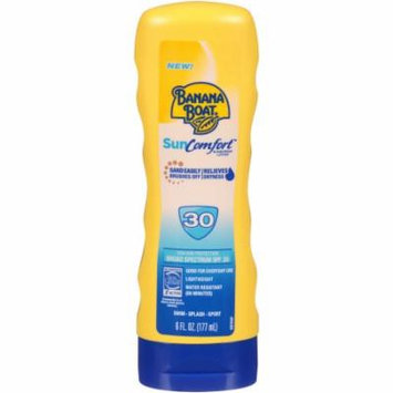 Banana Boat SunComfort Broad Spectrum SunScreen Lotion SPF 30 6.0 oz.(pack of 6)