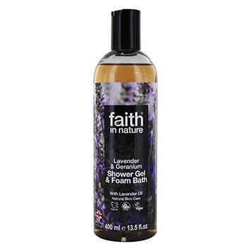 Faith in Nature - Shower Gel & Foam Bath with Lavender Oil Lavender & Geranium - 13.5 fl. oz. [Lavender & Geranium]