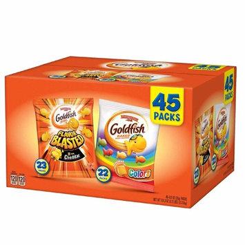 Pepperidge Farm, Goldfish, Crackers, 44.9 oz, Variety Pack, Box, Snack Packs, Pack Of 45 [.Variety Pack]